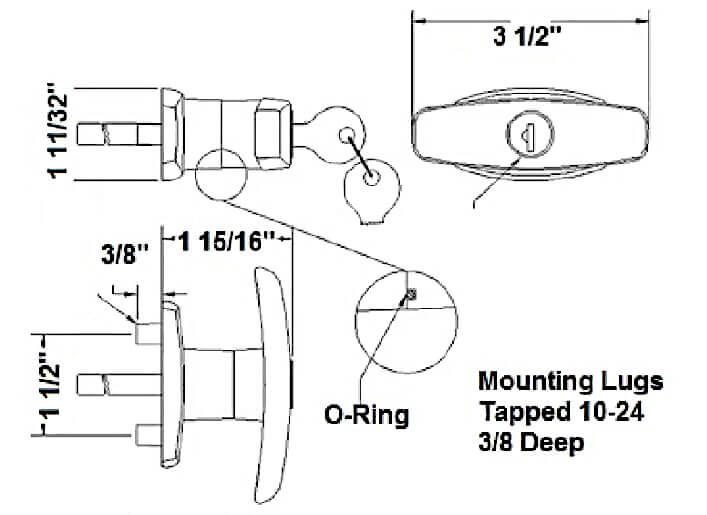 Statewide Matching Set T Handle Locks