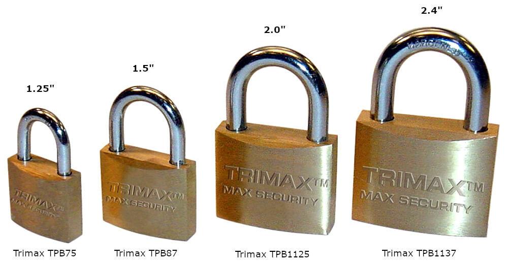 Trimax TPB Brass Padlocks
