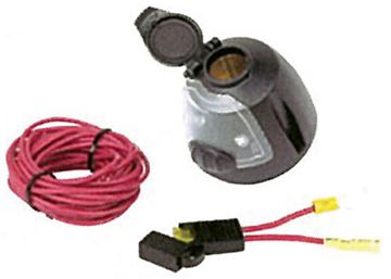 12 Volt Power Socket W/Utility Ligth/17ft Power Wire & Fuse