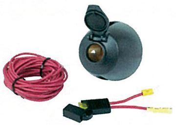 Picture of 12v Power Socket W/17' Power Wire
