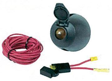 12v Power Socket W/17' Power Wire