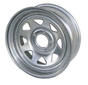 """Picture of 15"""" Galvanized Wheel 5 Hole"""