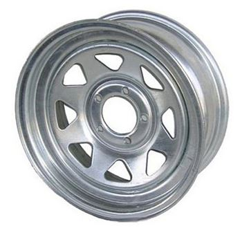 "15"" Galvanized Wheel 5 Hole"