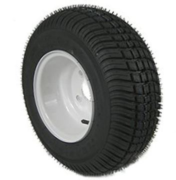 Picture of 205/65-10 Tire & Wheel (B) 4 Hole / White