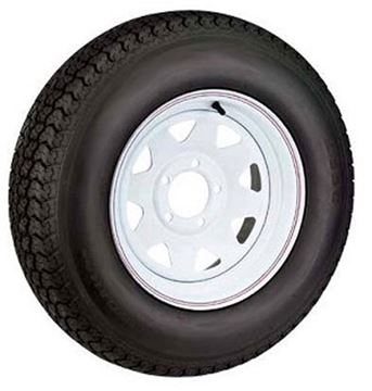 Picture of 480 X 12 (B) Tire And Wheel Imported 5 Hole Painted