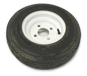 Picture of 480 X 8 (B) Tire And Wheel Imported 4 Hole Painted