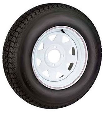 Picture of 530 X 12 (B) Tire And Wheel Imported 4 Hole Painted