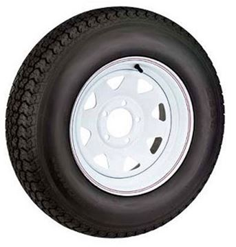 Picture of 530 X 12 (B) Tire And Wheel Imported 5 Hole Painted
