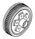 Picture of Brake Drum 5 On 4-1/2