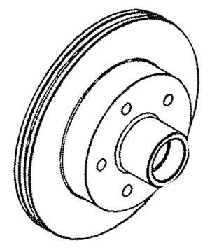 Disc Brake Rotor 5 On 4-1/2