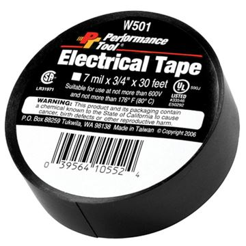 Electrical Tape 7 mil by 3/4 inch, 30 ft roll |  Performance Tool W501