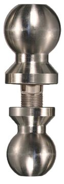 """Picture of Trimax 2"""" & 2-5/16"""" Double Tow Ball Chrome"""