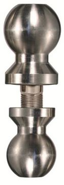 """Picture of Trimax 2"""" & 2-5/16"""" Double Tow Ball Stainless Steel"""