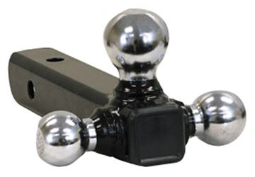 Picture of Buyers Tubular Tri-Ball Hitch, Chromeballs