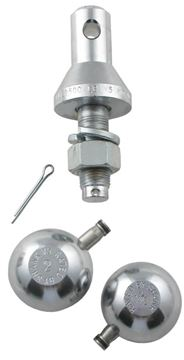 "Interchangeable Ball Set: 1-7/8"" and 2"" Balls with 3/4"" Shank 