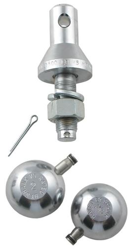 "Picture of Interchangeable Ball Set: 1-7/8"" and 2"" Balls with 3/4"" Shank 