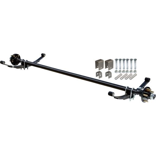 Complete Axle Kit, 2000 Lb., 60 in. Hubface, 48 in. Spring Center, 4 Bolt Pattern, 4 in. Hubs