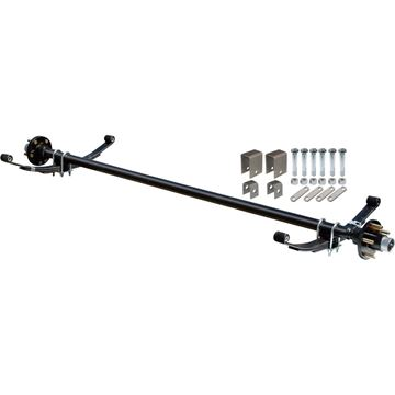 Complete Axle Kit, 2000 Lb., 67 in. Hubface, 55 in. Spring Center, 4 Bolt Pattern, 4 in. Hubs