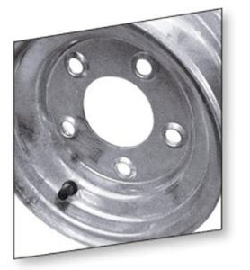 """Picture of 10"""" Wheel 4 Hole Galvanized"""