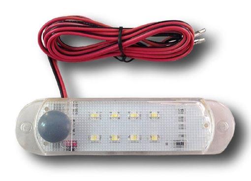 Surface Mount LED Dome Light with 8 LEDs, ATC AT-LED-12V