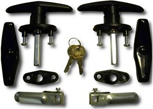 Picture of Bauer Matching Set T-Handles Lock for Truck Caps / Toppers