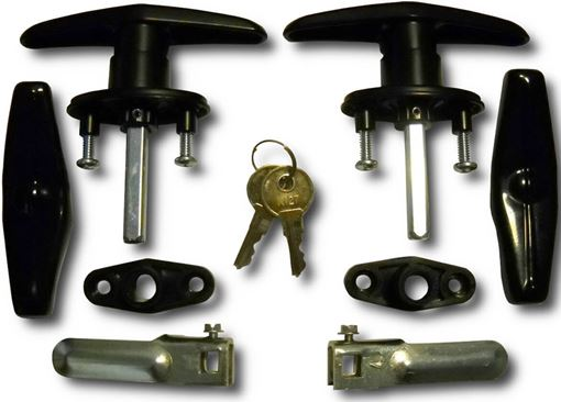 Bauer Matching Set T-Handles Lock for Truck Caps / Toppers
