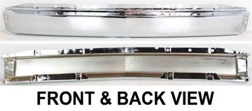 Replacement Front Bumper-Chrome, Steel | Replacement C012523
