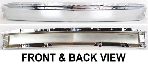 Front Bumper-Chrome, Steel, Replacement C012523
