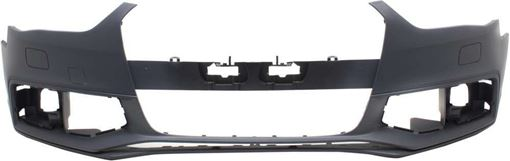 Bumper Cover, A4/S4 13-16 Front Bumper Cover, Primed, W/ S-Line Pkg., W/O Warning System, Replacement RA01030006P