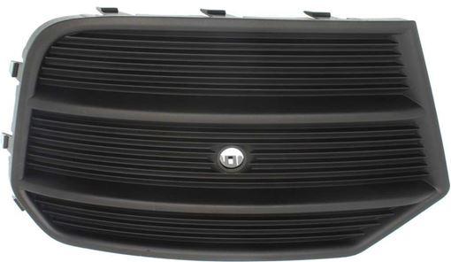 Audi Passenger Side Bumper Grille-Textured Black, Plastic, Replacement RA01550003
