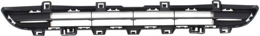 BMW Center, Upper Bumper Grille-Textured Black, Plastic, Replacement RB01530005