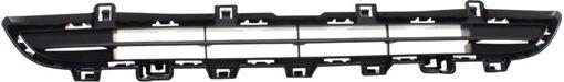 BMW Center, Upper Bumper Grille-Textured Black, Plastic, Replacement RB01530005Q
