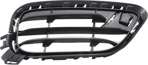 BMW Passenger Side Bumper Grille-Black, Plastic, Replacement RB01550001