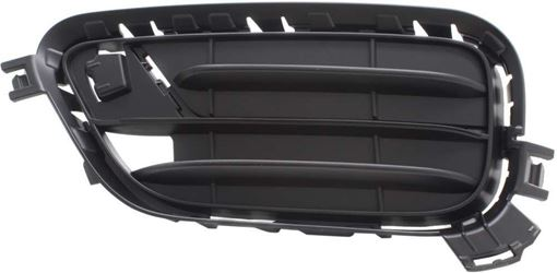 BMW Driver Side Bumper Grille-Black, Plastic, Replacement RB01550002