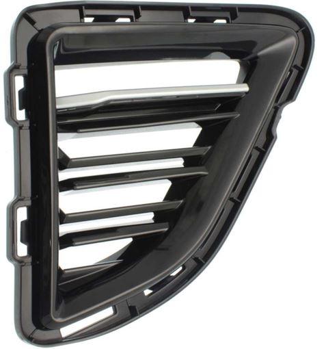 Chevrolet Passenger Side Bumper Grille-Chrome, Plastic, Replacement RC01550005