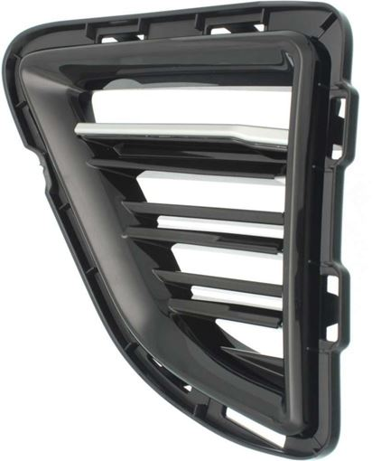 Chevrolet Driver Side Bumper Grille-Chrome, Plastic, Replacement RC01550006