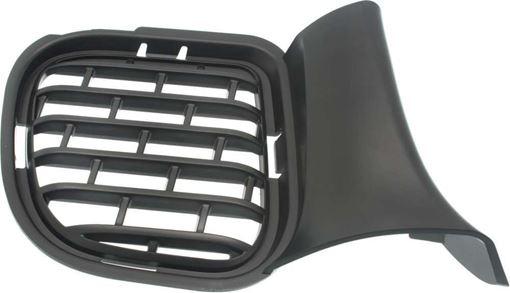 Dodge Passenger Side Bumper Grille-Textured Black, Plastic, Replacement RD01550001