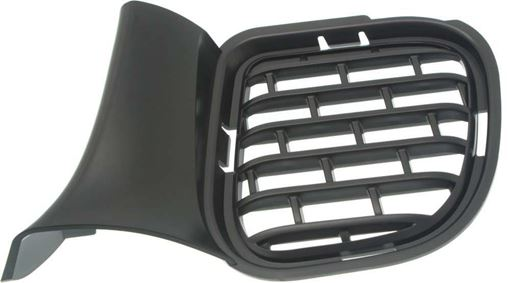 Dodge Driver Side Bumper Grille-Textured Black, Plastic, Replacement RD01550002