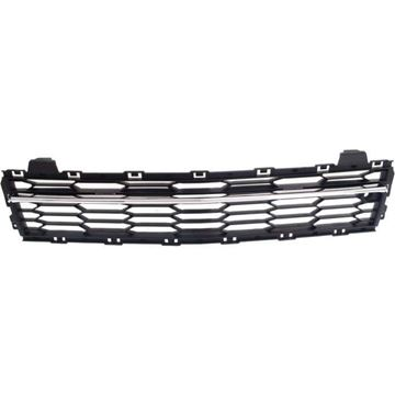 Replacement Bumper Grille Replacement Bumper Grille-Chrome Shell w/ Black Insert, Plastic | Replacement REPC015336