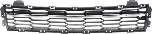 Bumper Grille Replacement Bumper Grille-Chrome Shell w/ Black Insert, Plastic, Replacement REPC015336Q