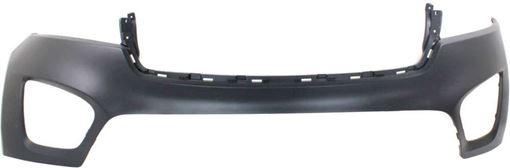 Bumper Cover, Sorento 16-18 Front Bumper Cover, Upper, Primed, Ex/L/Lx Models - Capa, Replacement REPK010336PQ