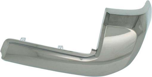 Toyota Rear, Passenger Side Bumper End End-Chrome, Plastic, Replacement REPT761139Q
