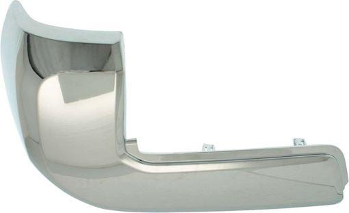Toyota Rear, Driver Side Bumper End-Chrome, Plastic, Replacement REPT761140Q