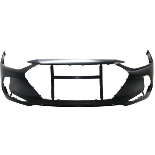 Hyundai Front Bumper Cover-Primed, Plastic, Replacement RH01030007PQ