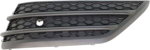 Bumper Grille, Pilot 16-18 Front Bumper Grille Rh, Outer, Textured Black, W/ Parking Aid Snsr Holes, Replacement RH01550001