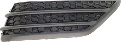 Bumper Grille, Pilot 16-18 Front Bumper Grille Rh, Outer, Textured Black, W/O Parking Aid Snsr Holes, Replacement RH01550003
