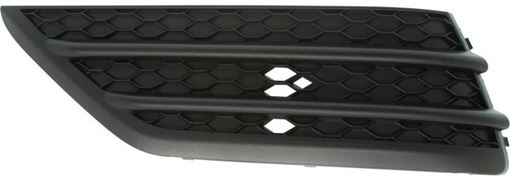 Bumper Grille, Pilot 16-18 Front Bumper Grille Lh, Outer, Textured Black, W/O Parking Aid Snsr Holes, Replacement RH01550004