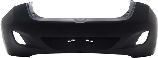 Hyundai Rear Bumper Cover-Primed, Plastic, Replacement RH76010001PQ