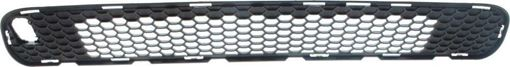 Jeep Center Bumper Grille-Textured Black, Plastic, Replacement RJ01530002