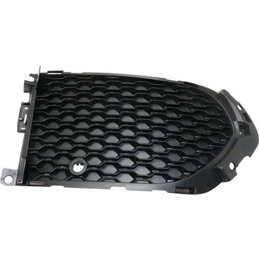 Jaguar Passenger Side Bumper Grille-Textured Black, Plastic, Replacement RJ01550003